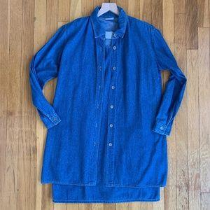 Vintage Two Piece Denim Dress Blue Size Small